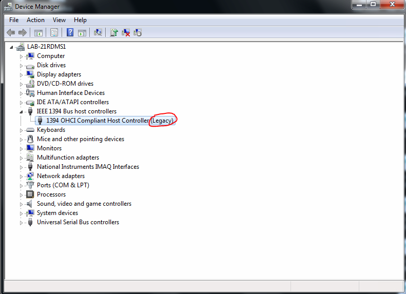 device-manager-showing-ieee-1394-legacy-driver